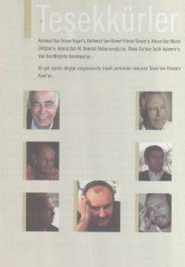 2011 Yerel Edebiyat Dergileri Albümü, Teşekkür