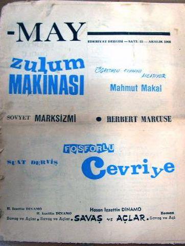 MAY DERGİSİ - 1968 - SAYI 15