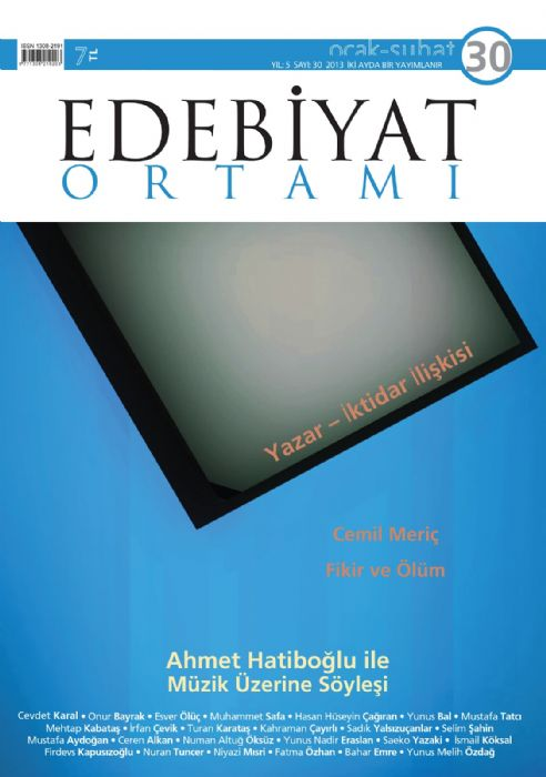 EDEBİYAT ORTAMI DERGİSİ - SAYI 30 - OCAK ŞUBAT 2013