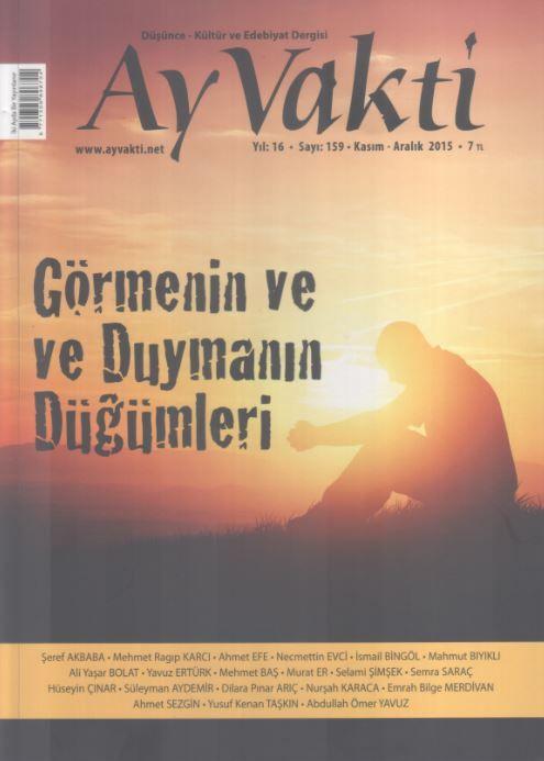 Ay Vakti Dergisi - Sayı 159 - Kasım Aralık 2015