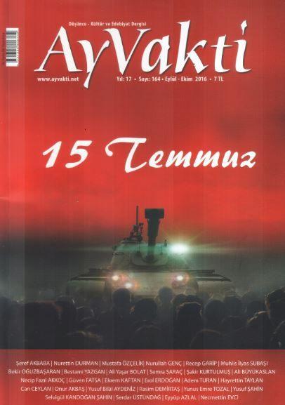 Ay Vakti Dergisi - Sayı 164 - Eylül Ekim 2016