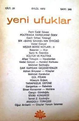 YENİ UFUKLAR DERGİSİ - EYLÜL 1973