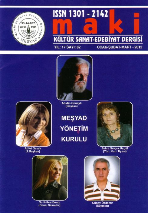 MAKİ - OCAK ŞUBAT MART 2012 - SAYI 82