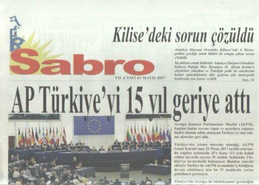 Sabro Gazetesi - Sayı 63 - Mayıs 2017