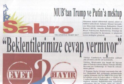 Sabro Gazetesi - Sayı 61 - Mart 2017