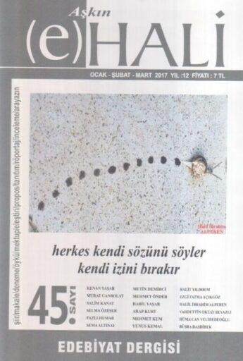 Aşkın E-Hali Dergisi - Sayı 45 - Ocak Şubat Mart 2017