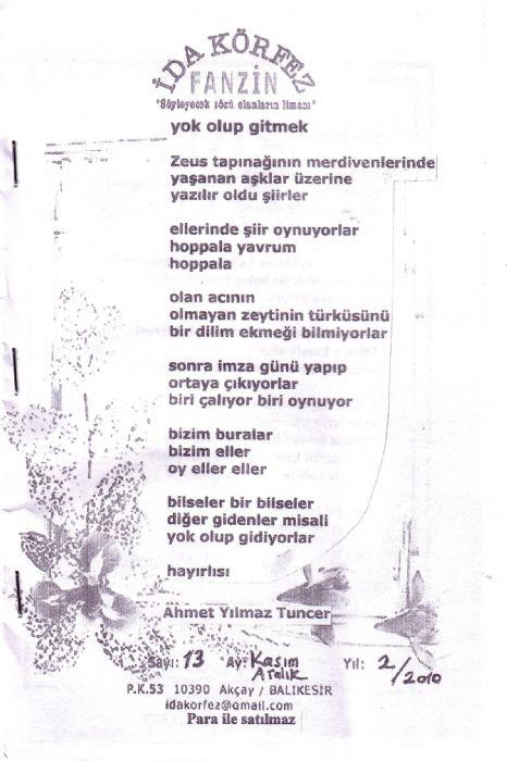 İDA KÖRFEZ FANZİN KASIM-ARALIK 2010