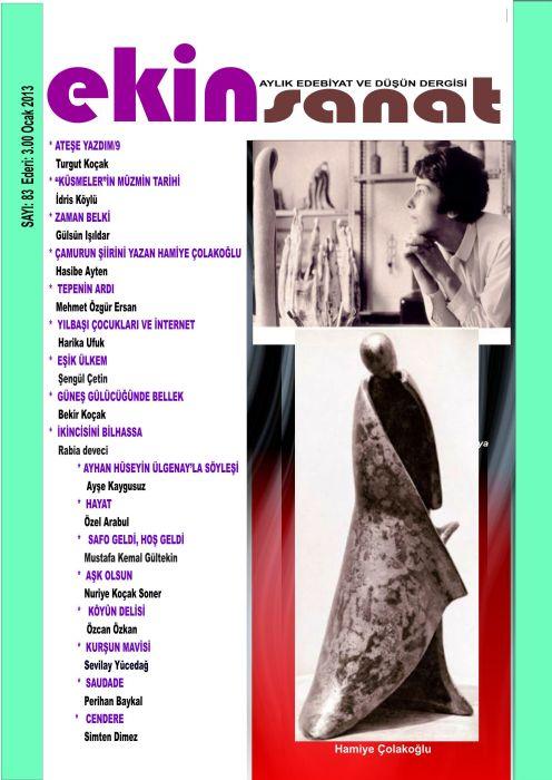 EKİN SANAT DERGİSİ - SAYI 83 - OCAK 2013