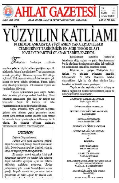 Ahlat Gazetesi - Sayı 180