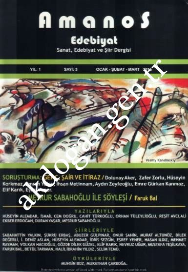 AMANOS DERGİSİ - SAYI 3