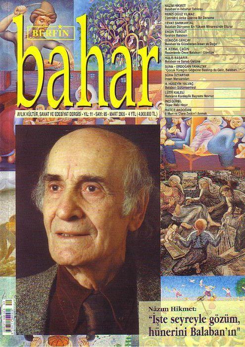 BERFİN BAHAR DERGİSİ - SAYI 86 - NİSAN  2005