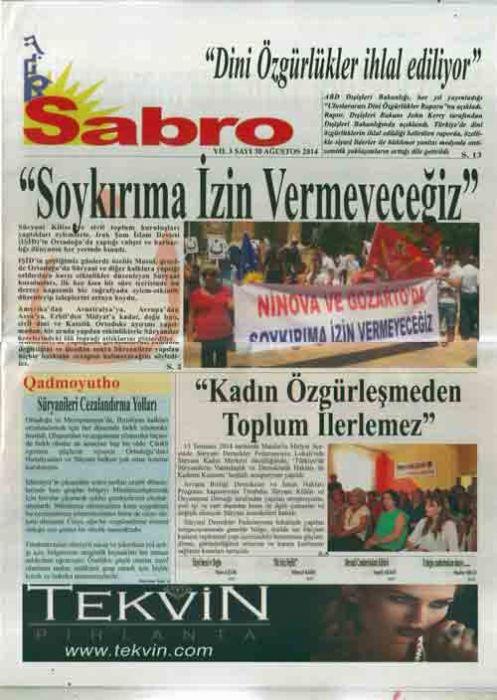 Sabro Gazetesi - Sayı 30 - AĞUSTOS 2014