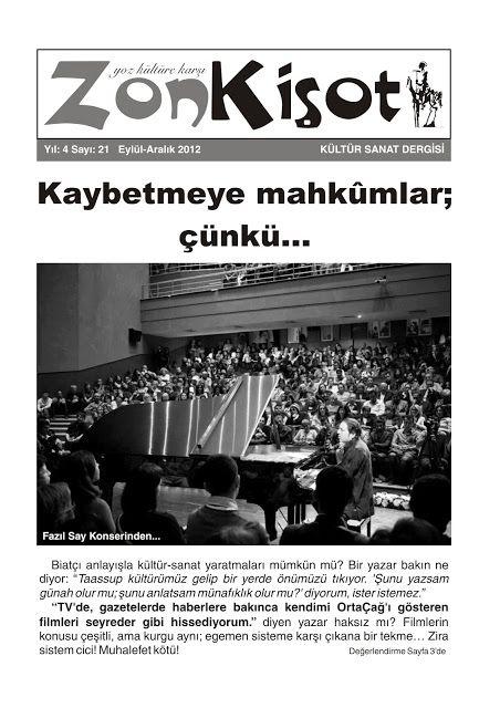 ZON KİŞOT DERGİSİ - SAYI 21 - EYLÜL ARALIK 2012
