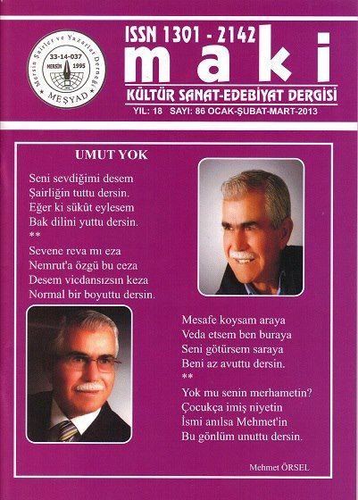 MAKİ DERGİSİ - SAYI 86 - OCAK ŞUBAT MART 2013
