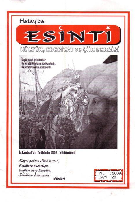 HATAY'DA ESİNTİ DERGİSİ - SAYI 28
