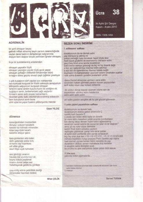 ÖZGÜR EDEBİYAT DERGİSİ / KASIM ARALIK 2010