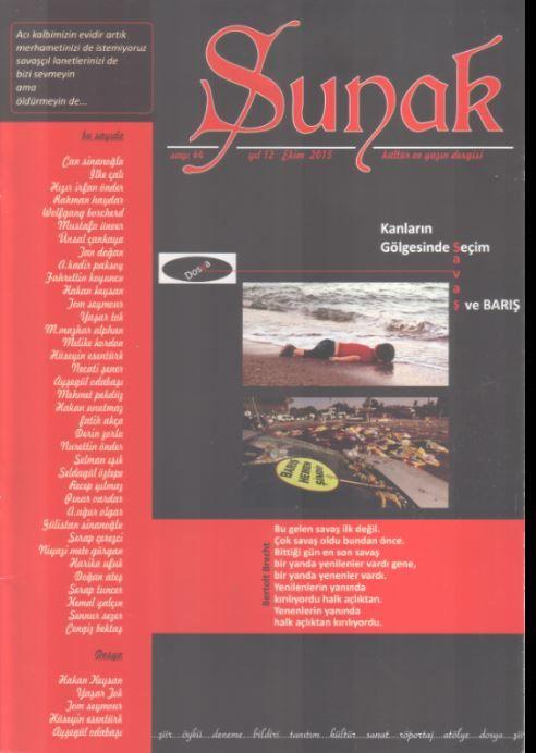 Sunak Dergisi - Sayı 44 - Ekim 2015