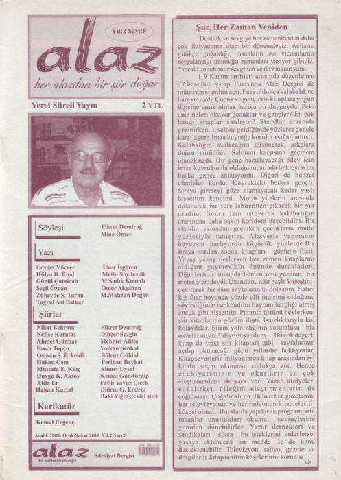 DAR SOKAK DERGİSİ Aylık Edebiyat Dergisi Yıl 2 Sayı 6 Ocak