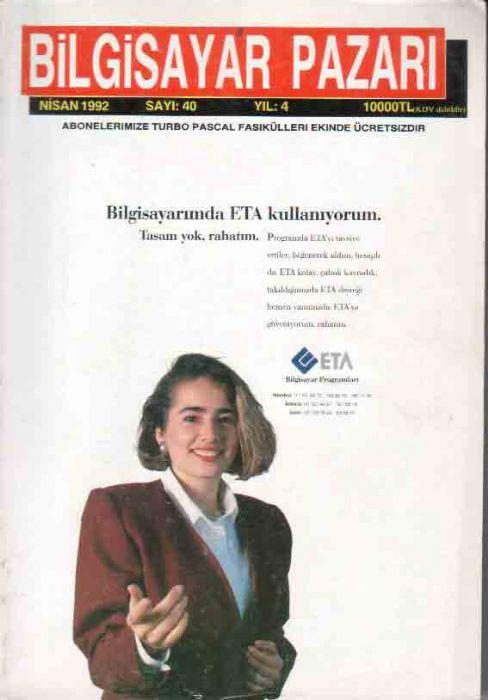 BİLGİSAYAR PAZARI - NİSAN 1992 - SAYI 40