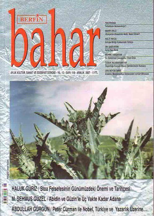 BERFİN BAHAR DERGİSİ - SAYI 118 - ARALIK 2007