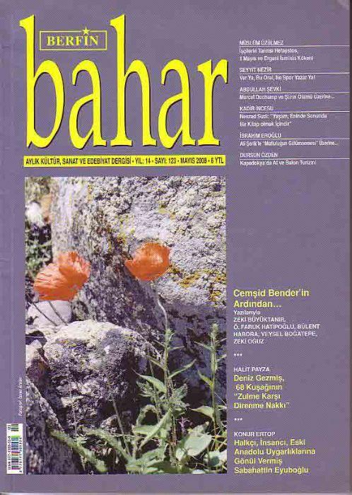 BERFİN BAHAR DERGİSİ - SAYI 123 - MAYIS 2008
