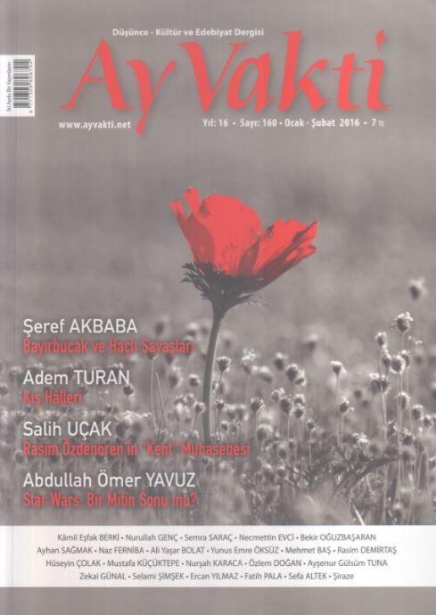 Ay Vakti Dergisi - Sayı 160 - Ocak Şubat 2016
