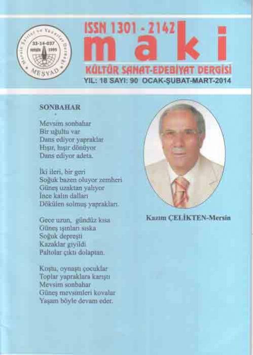MAKİ DERGİSİ - SAYI 90 - OCAK ŞUBAT MART 2014