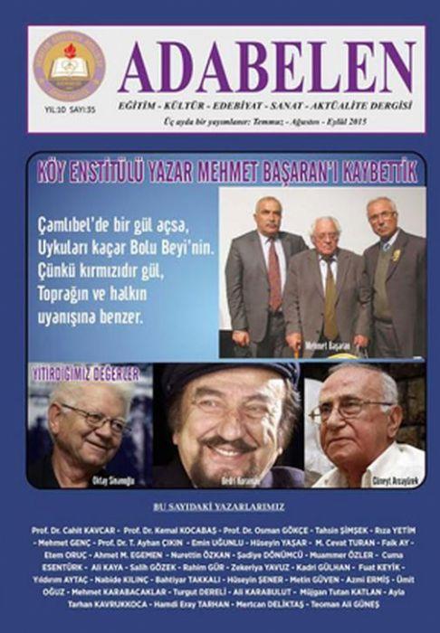 ADABELEN DERGİSİ - SAYI 35 - TEMMUZ 2015