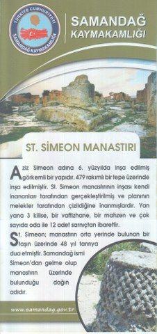 SAMANDAĞ KAYMAKAMLIĞI - ST. SİMEON MANASTIRI