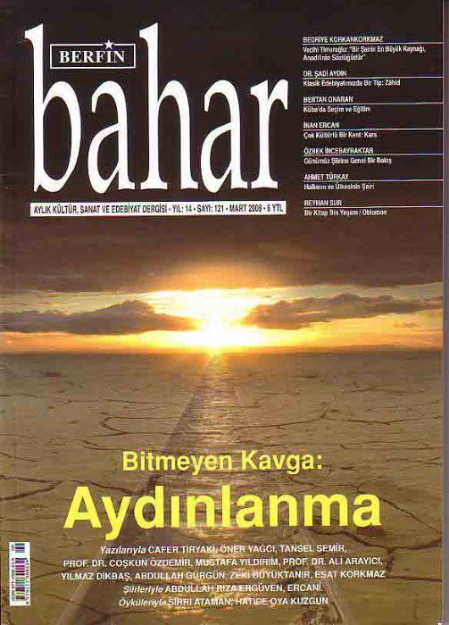 BERFİN BAHAR DERGİSİ - SAYI 121 - MART 2008