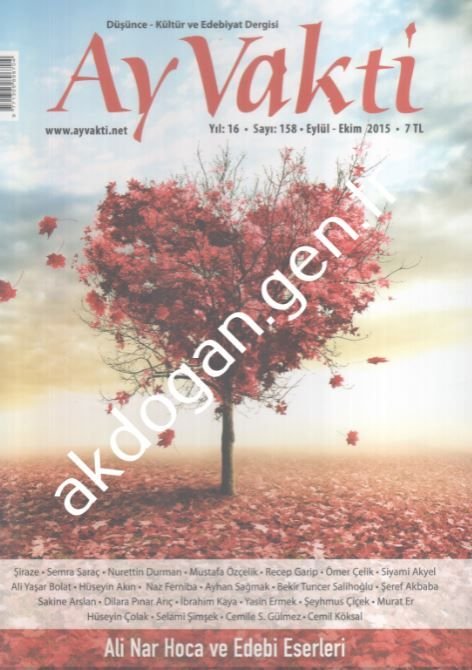 Ay Vakti Dergisi - Sayı 158 - Eylül Ekim 2015