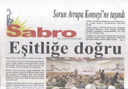 Sabro Gazetesi - Sayı 67 - Eylül 2017