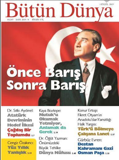 Bütün Dünya Dergisi - Sayı 2015/09 - Eylül 2015
