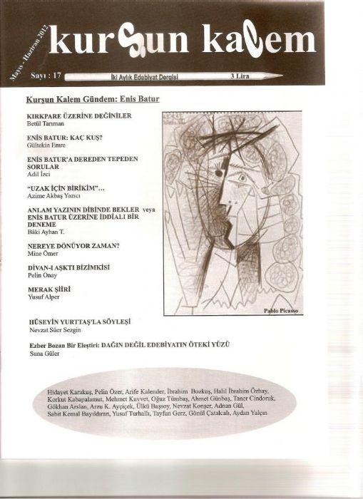 KURŞUN KALEM DERGİSİ - SAYI 17 - MAYIS HAZİRAN 2012