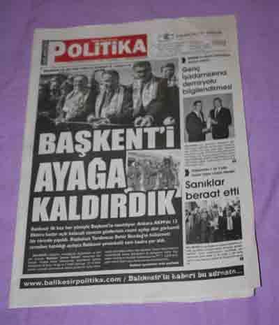 BALIKESİR POLİTİKA GAZETESİ