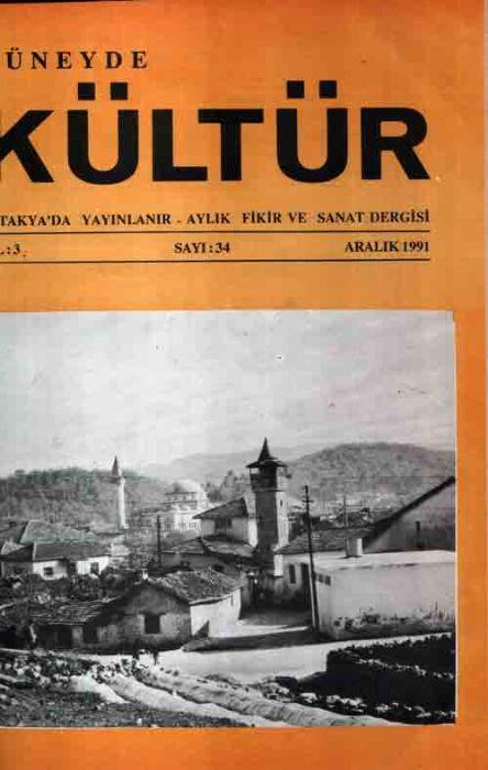 GÜNEYDE KÜLTÜR DERGİSİ - SAYI 34 - ARALIK 1991