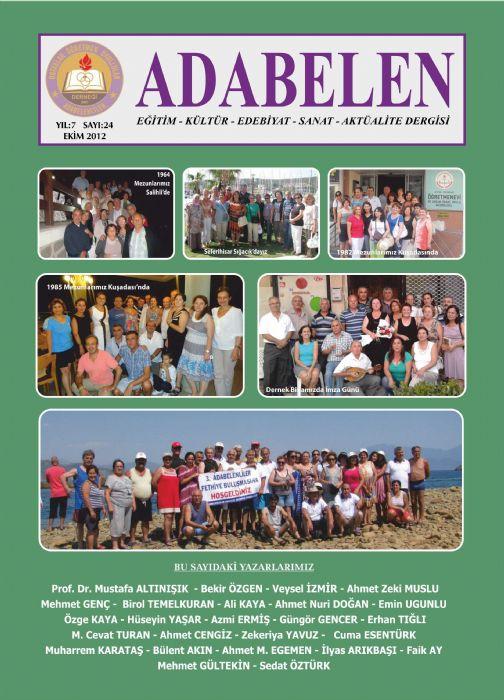 ADABELEN DERGİSİ - SAYI 24 - EKİM 2012