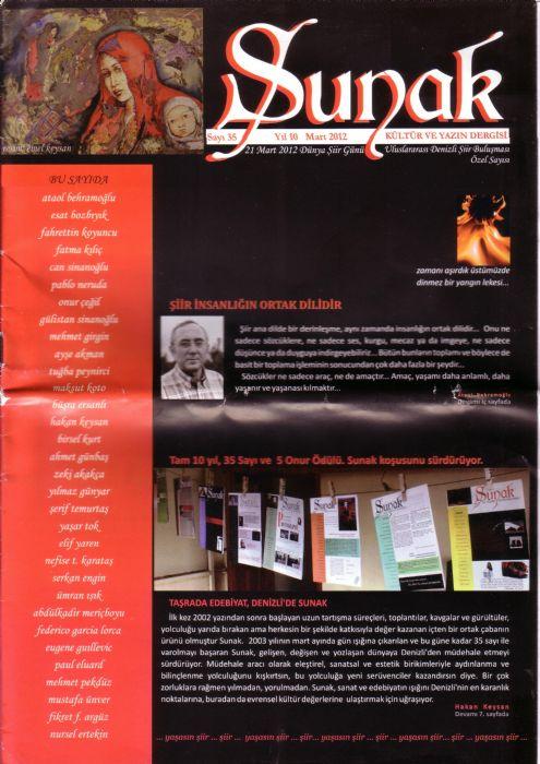SUNAK DERGİSİ - SAYI 35 - MART 2012