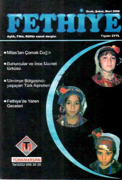 FETHİYE DERGİSİ - OCAK ŞUBAT MART 2006