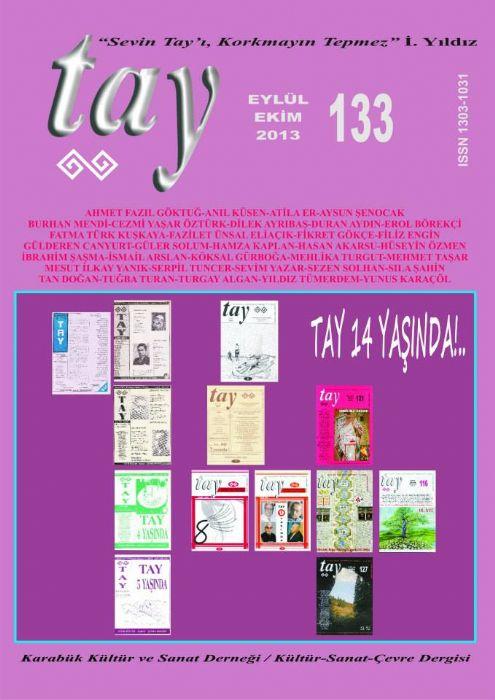 TAY DERGİSİ - SAYI 133 - EYLÜL EKİM 2013