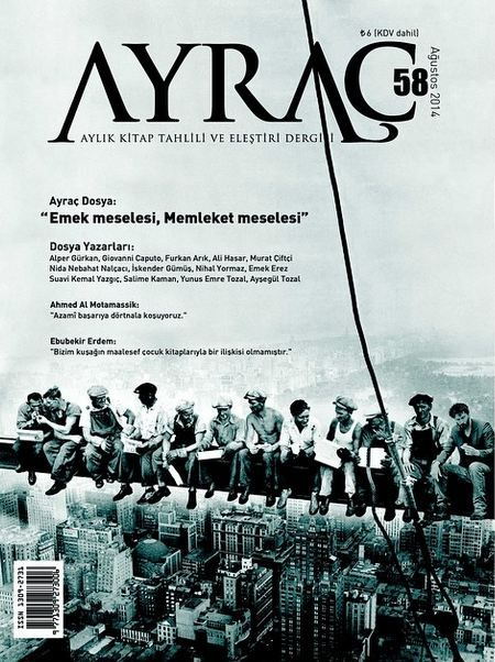 Ayraç Dergisi - Sayı 58 - Ağustos 2014