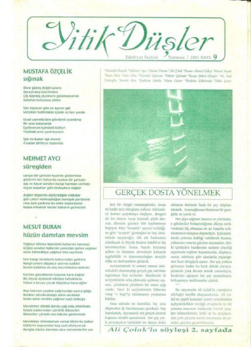 BEŞPARMAK DERGİSİ - SAYI 105 - EYLÜL EKİM 2001