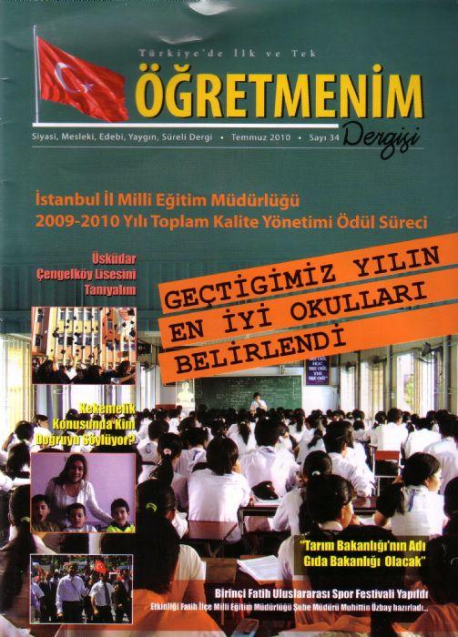 ÖĞRETMENİM DERGİSİ / TEMMUZ 2010