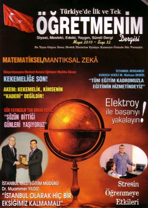 ÖĞRETMENİM DERGİSİ / MAYIS 2010