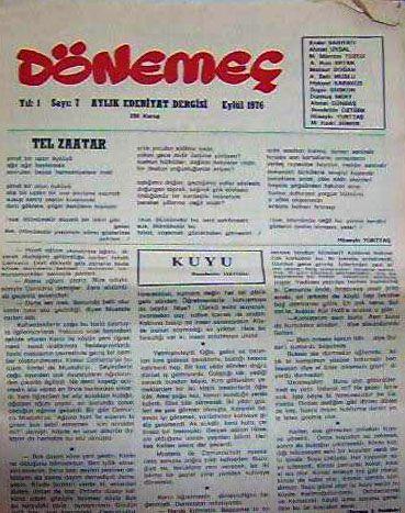 DÖNEMEÇ DERGİSİ - SAYI 1 - EYLÜL 1976