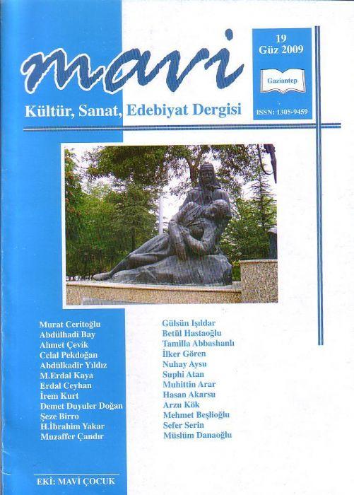 MAVİ DERGİSİ - SAYI 19 - GÜZ 2009