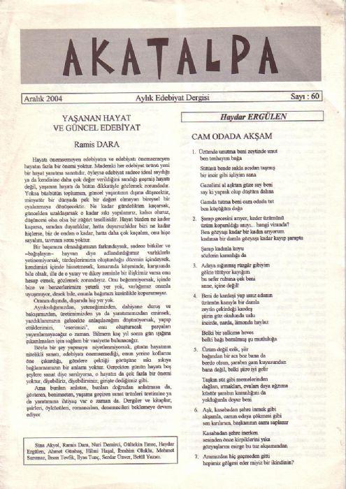 AKATALPA DERGİSİ - SAYI 60 - ARALIK 2004