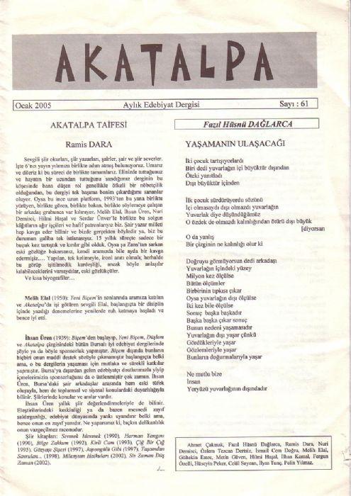 AKATALPA DERGİSİ - SAYI 61 - OCAK 2005