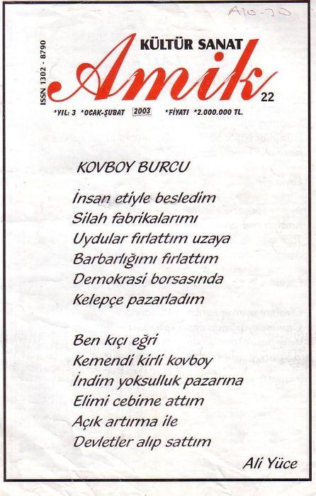 AMİK DERGİSİ - SAYI 22 - OCAK ŞUBAT 2003