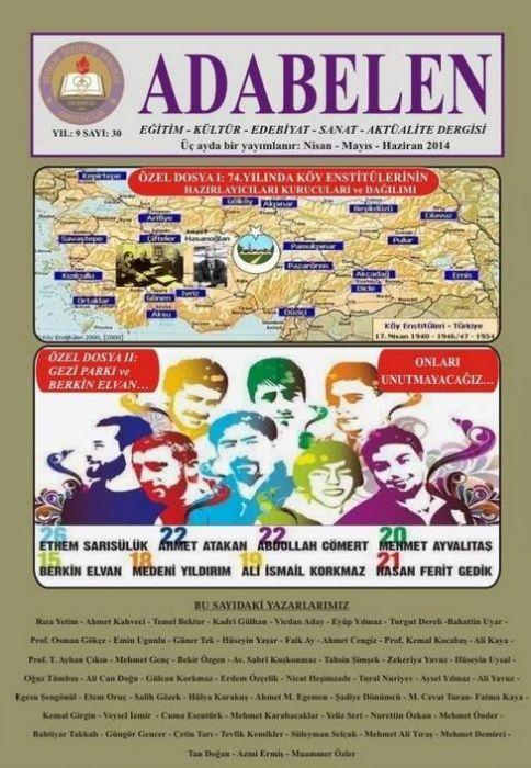ADABELEN DERGİSİ - SAYI 30 - NİSAN MAYIS HAZİRAN 2014